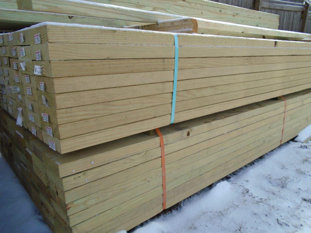 2 Pressure Treated Lumber Mon X 6 18 Actual